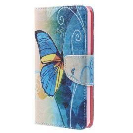 Book Case Hoesje Wiko Lenny 3 - Blauwe Vlinder