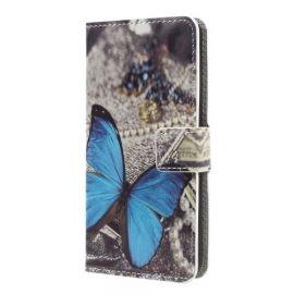 Book Case Hoesje Huawei Nova - Blauwe Vlinder