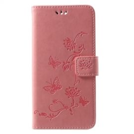 Book Case Hoesje Bloemen Huawei Mate 10 Lite - Roze