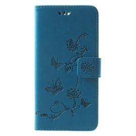 Book Case Hoesje Bloemen Huawei Mate 10 Lite - Blauw