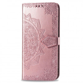 Bloemen Book Case Samsung Xcover 4 / 4s Hoesje - Rose Gold