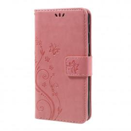 Bloemen Book Case Samsung Galaxy A5 (2017) Hoesje - Pink