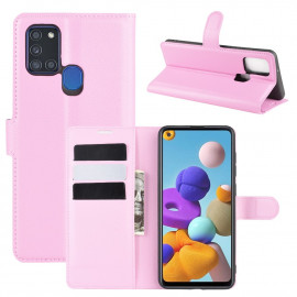 Book Case Samsung Galaxy A21s Hoesje - Pink