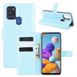 Book Case Samsung Galaxy A21s Hoesje - Lichtblauw