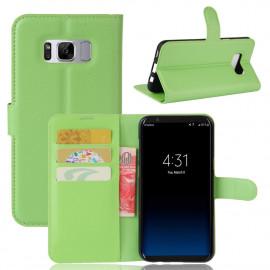 Book Case Samsung Galaxy S8 Hoesje - Groen