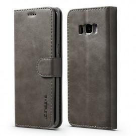 Luxe Book Case Samsung Galaxy S8 Hoesje - Grijs