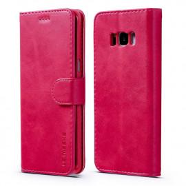 Luxe Book Case Samsung Galaxy S8 Hoesje - Roze