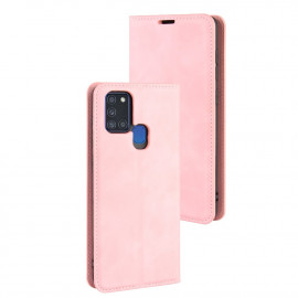 Premium Book Case Samsung Galaxy A21s Hoesje - Pink