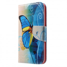 Book Case Samsung Galaxy J5 (2016) Hoesje - Blauwe Vlinder
