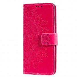 Bloemen Book Case Huawei P Smart (2020) Hoesje - Roze