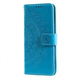Bloemen Book Case Huawei P Smart (2020) Hoesje - Lichtblauw