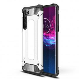 Armor Hybrid Motorola Edge Hoesje - Zilver