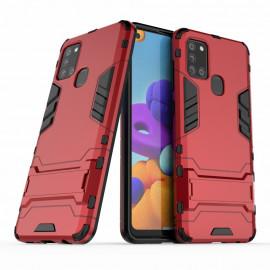 Armor Kickstand Samsung Galaxy A21s Hoesje - Rood