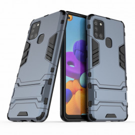 Armor Kickstand Samsung Galaxy A21s Hoesje - Blauw