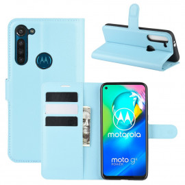 Book Case Motorola Moto G8 Power Hoesje - Lichtblauw