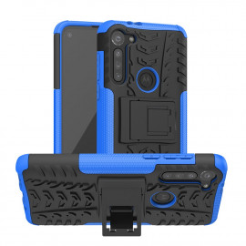 Rugged Kickstand Motorola Moto G8 Power Hoesje - Blauw
