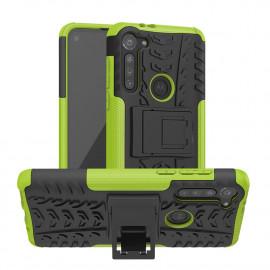 Rugged Kickstand Motorola Moto G8 Power Hoesje - Groen