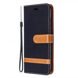 Denim Book Case Nokia 1.3 Hoesje - Zwart