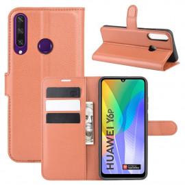 Book Case Huawei Y6P Hoesje - Bruin
