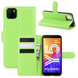 Book Case Huawei Y5P Hoesje - Groen