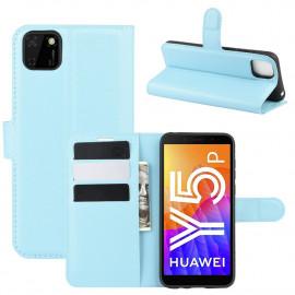 Book Case Huawei Y5P Hoesje - Blauw