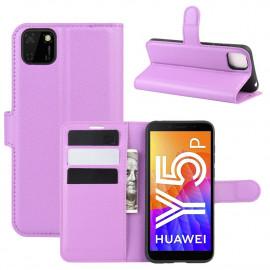 Book Case Huawei Y5P Hoesje - Paars