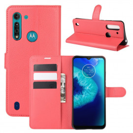 Book Case Motorola Moto G8 Power Lite Hoesje - Rood