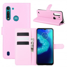 Book Case Motorola Moto G8 Power Lite Hoesje - Pink