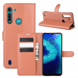 Book Case Motorola Moto G8 Power Lite Hoesje - Bruin