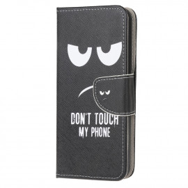 Book Case Huawei Y6P Hoesje - Don't Touch