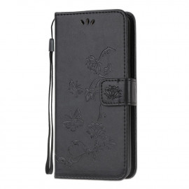 Vlinder Book Case Huawei Y5P Hoesje - Zwart