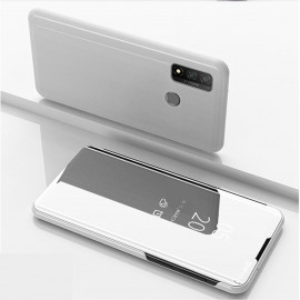 Mirror View Case Huawei P Smart (2020) Hoesje - Zilver