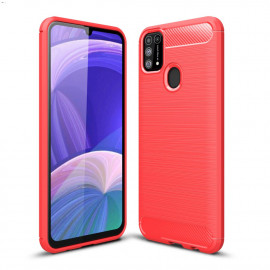 Armor Brushed TPU Samsung Galaxy M31 Hoesje - Rood