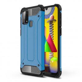 Armor Hybrid Samsung Galaxy M31 Hoesje - Lichtblauw