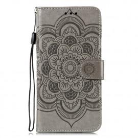 Bloemen Book Case Motorola Moto G8 Power Lite Hoesje - Grijs