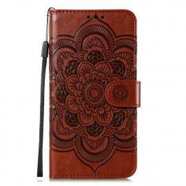 Bloemen Book Case Motorola Moto G8 Power Lite Hoesje - Bruin