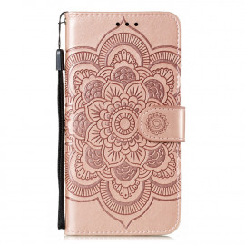 Bloemen Book Case Motorola Moto G8 Power Lite Hoesje - Rose Gold