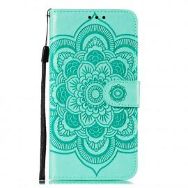 Bloemen Book Case Motorola Moto G8 Power Lite Hoesje - Cyan