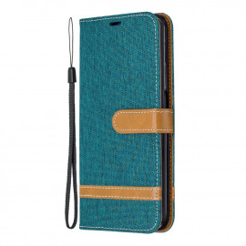 Denim Book Case Huawei P Smart Pro Hoesje - Groen