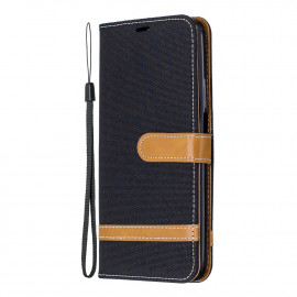 Denim Book Case Huawei P Smart Pro Hoesje - Zwart