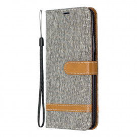 Denim Book Case Huawei P Smart Pro Hoesje - Grijs