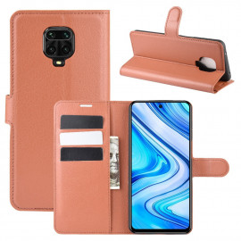 Book Case Xiaomi Redmi Note 9 Pro / 9S Hoesje - Bruin