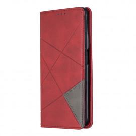 Geometric Book Case Huawei P Smart Pro Hoesje - Rood