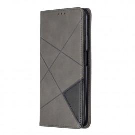 Geometric Book Case Huawei P Smart Pro Hoesje - Grijs