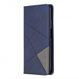 Geometric Book Case Huawei P Smart Pro Hoesje - Blauw