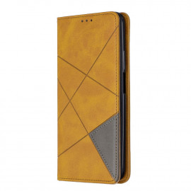 Geometric Book Case Huawei P Smart Pro Hoesje - Bruin