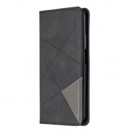 Geometric Book Case Huawei P Smart Pro Hoesje - Zwart