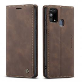 CaseMe Book Case Samsung Galaxy M31 Hoesje - Donkerbruin