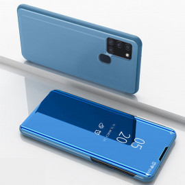Mirror View Case Samsung Galaxy A21s Hoesje - Blauw