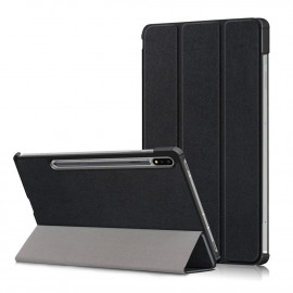 Tri-Fold Book Case Samsung Galaxy Tab S7 Hoesje - Zwart
